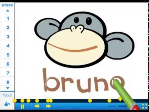 How to draw Bruno the Monkey - Drawing Tutorial Video