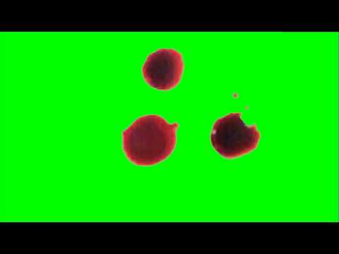 Blood Drips - chroma key effect