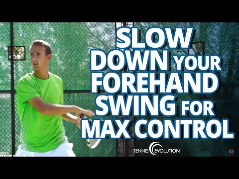 TENNIS FOREHAND TOPSPIN | How To Create Topspin On The Tennis Forehand
