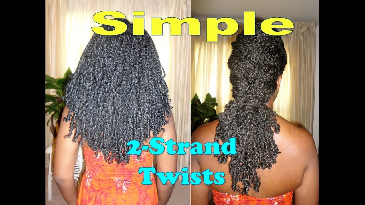 Simple Two Strand Twists w/Natural Looking Extensions (For Long and ...