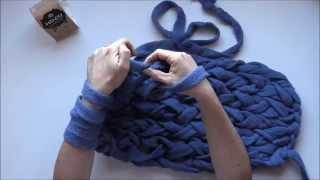Aprende a tejer con las manos en 5 minutos