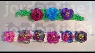 New Flower Sculpture Bracelet Advanced Rainbow Loom