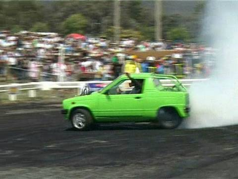 Summernats 23 - Supercharged V6 Suzuki Mighty Boy Burnout