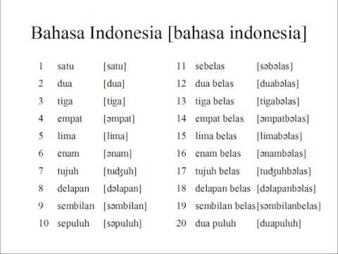 indonesian numbers 120 youtube