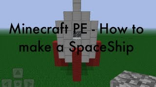 Minecraft PE How To Build A SpaceShip