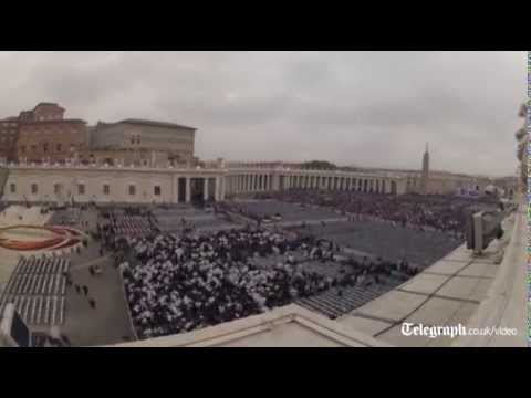 Vatican timelapse: thousands gather for Pope canonisation ceremony