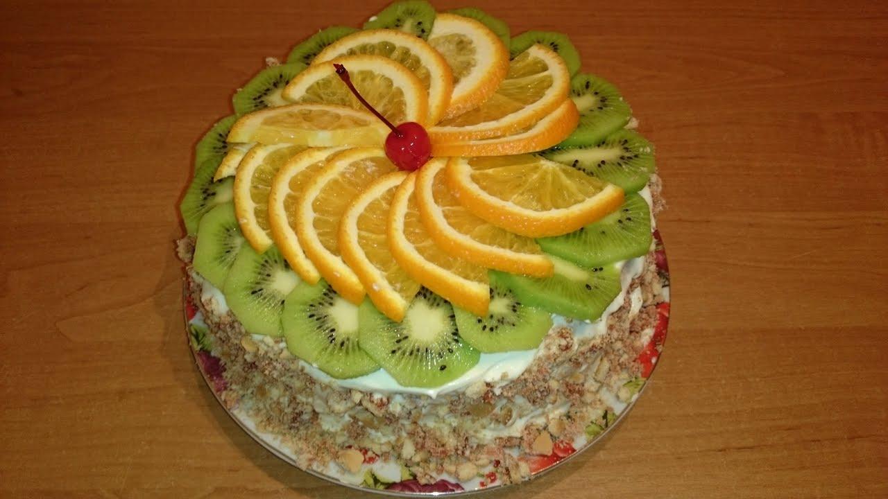 Как украсить торт в домашних условиях: крем, фрукты 33
