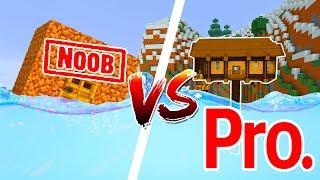 Khi NOOB Xây Nhà Chống Lũ Lụt Trong Minecraft