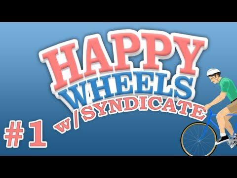 "Happy Wheels w/Syndicate | Episode #1 ""Im A Noob"""