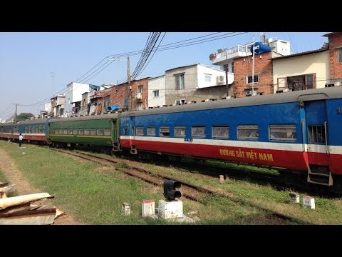 Train Saigon - Hanoi departing Ho Chi Minh City, Vietnam