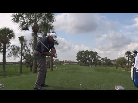 ANGEL CABRERA - 2014 DRIVER 4TH HOLE HONDA PRO AM - GOLF SWING REG & SLOW MOTION 1080p HD