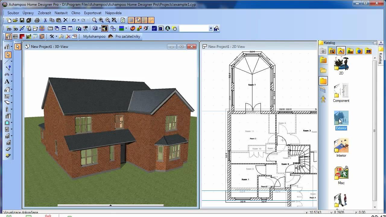 Ashampoo home designer pro prvn prezentace esk verze for Programme architecture 3d gratuit