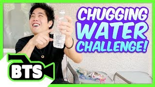 Chugging Water Challenge! (BTS)