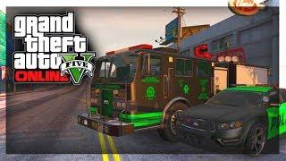 GTA 5: Custom Cars Custom Fire Truck & Police Cars! GTA
