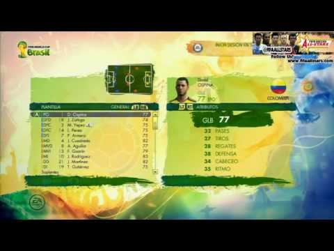 2014 FIFA World Cup Rating Player South America - FIFAALLSTARS