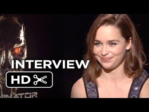 Terminator Genisys Interview - Emilia Clarke (2015) - Action Movie HD