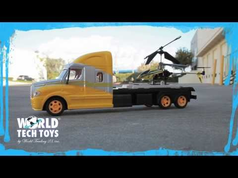 RC Mega Hauler Helicopter And Electric Truck Demo Video