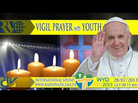 GMG 2013 -La veglia dei giovani con Papa Francesc