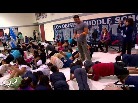 Greg Plitt - Inspirational Texas Middle School Visit - Video Blog Preview - GregPlitt.com