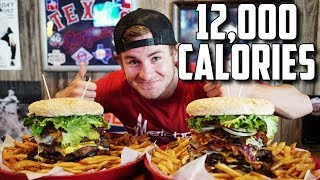 THE BEAST BURGER CHALLENGE | 12,000+ CALORIES