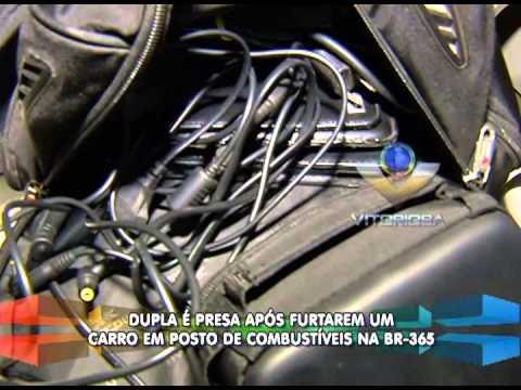 Dupla é presa após furto de carro em posto de combustíveis da BR-365
