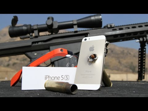 Gold iPhone 5S shot with 50 Cal sniper rifle #ThroughGlass Google Glass