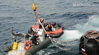 Эвакуация космонавтов прошла в Японском море