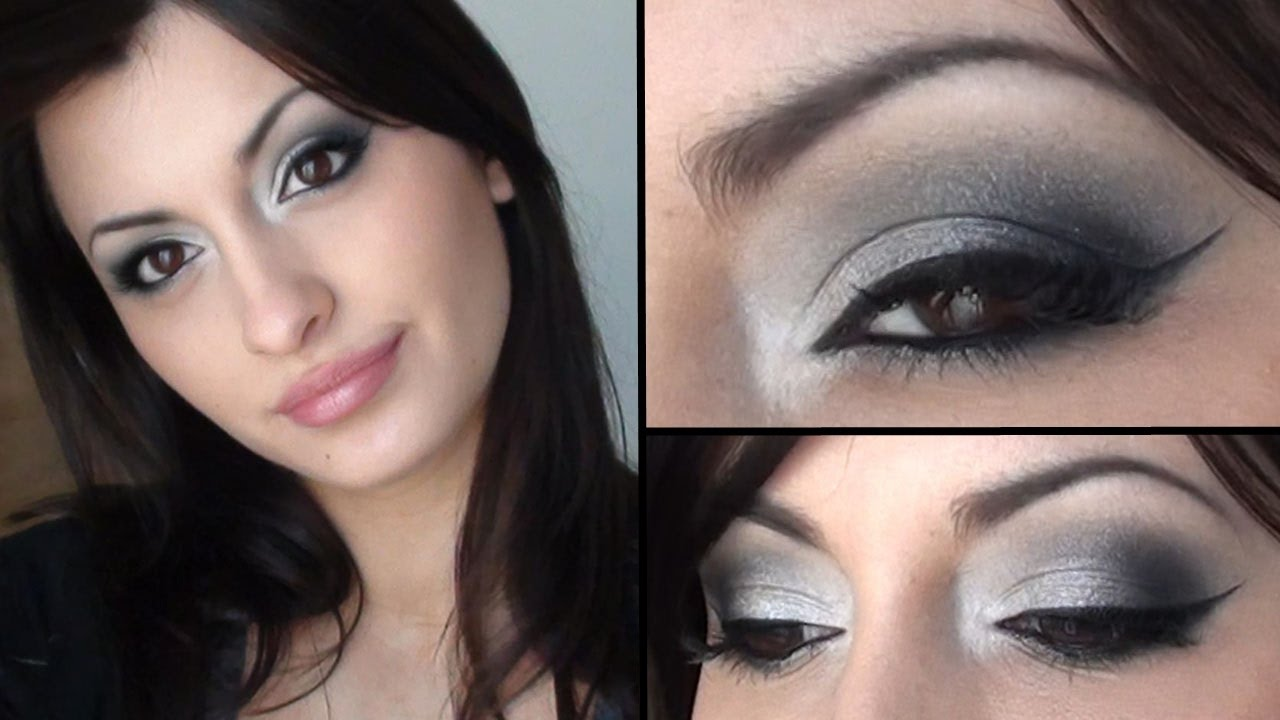 Maquillage De Soir E Argent Youtube