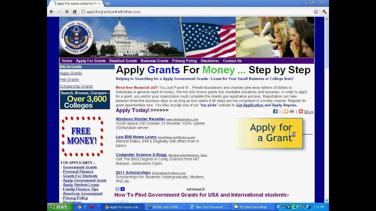 apply free grant online