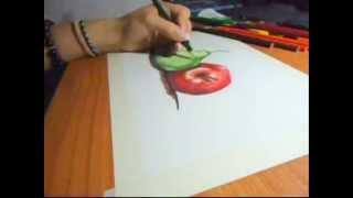 Pera Y Manzana Color,. Dibujar