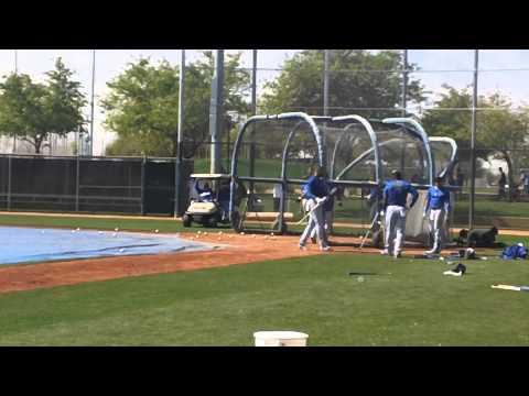 Dodgers Yasiel Puig Alexander Guerrero Juan Uribe & Matt Kemp Batting Practice Spring Training 2014
