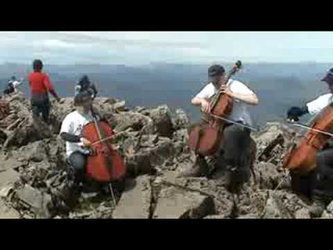 Extreme Cellists on Ben Nevis