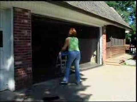 Garage door screen roll up best value youtube for Roll up garage door screen