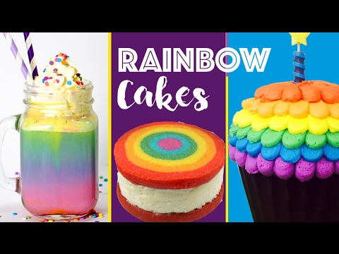 RAINBOW DESSERTS COMPILATION Rainbow Cake Cookies Surprise Inside Cupcakes