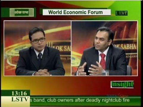 20130130 Lok Sabha TV Interview of Prof. Aman Agarwal on World Economic Forum 2013 on 30-31 Jan 2013