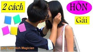 2 trò ảo thuật Hôn gái đơn giản bằng giấy nhớ | 2 simple ways to get a kiss with notepad