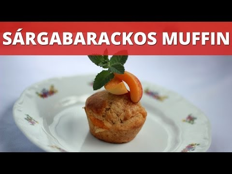 Sárgabarackos muffin