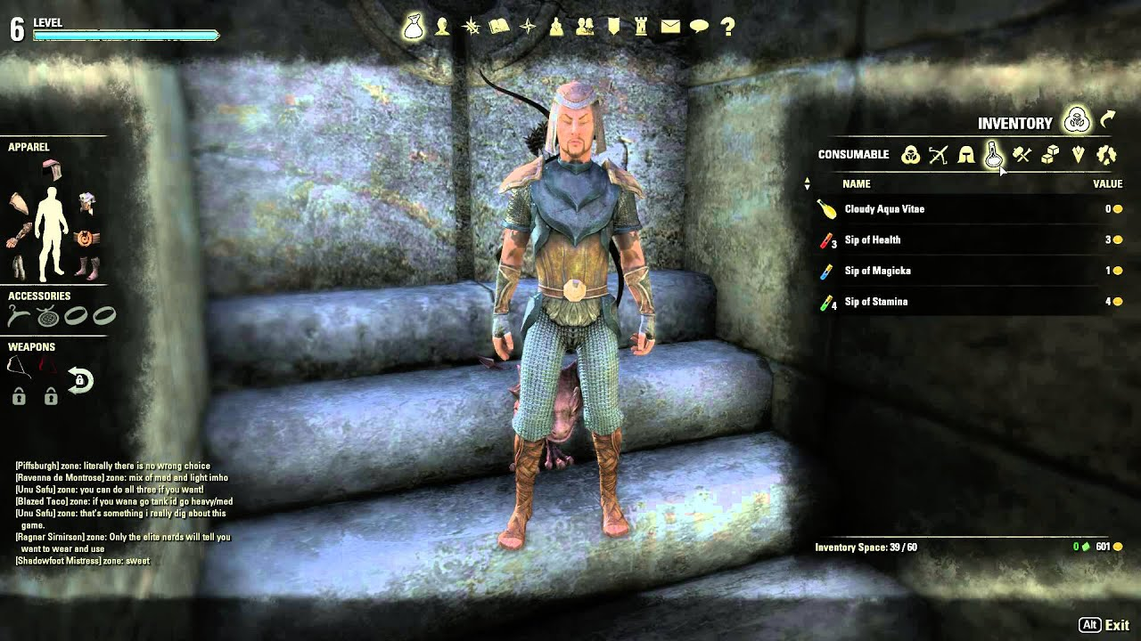 elder scrolls online quickslot