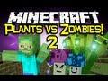 Minecraft PLANTS VS ZOMBIES 2 MOD Spotlight! - Let's Battle! (Minecraft Mod Showcase)