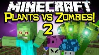Minecraft PLANTS VS ZOMBIES 2 MOD Spotlight! Let's