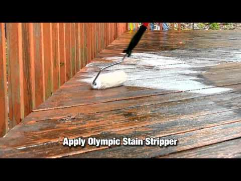 How to strip old wood or deck stain or paint youtube for Best deck paint for old wood