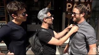 Barstool Pizza Review - Pizza Alla Pala with Special Guests Tan and Antoni From Queer Eye