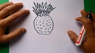 Como Dibujar Una Piña Paso A Paso How To Draw A