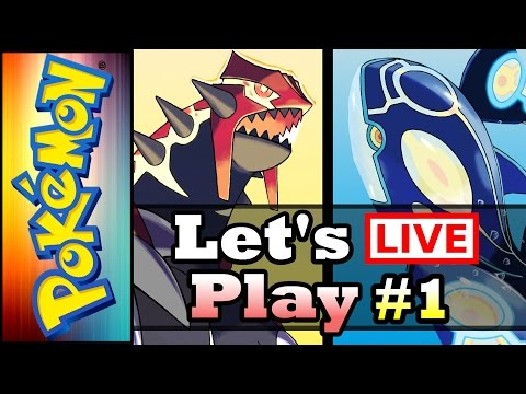 Pokemon Omega Ruby and Alpha Sapphire - LIVESTREAM! - Let's Play Part 1 (3DS Gameplay / Walkthrough)