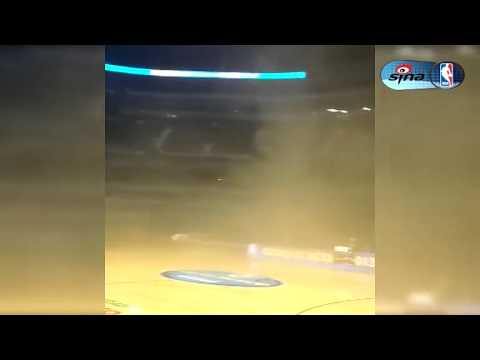 Spurs-Wolves Game Postponed Due to Smoke Filled the Inside of Mexico City Arena - December 4th, 2013