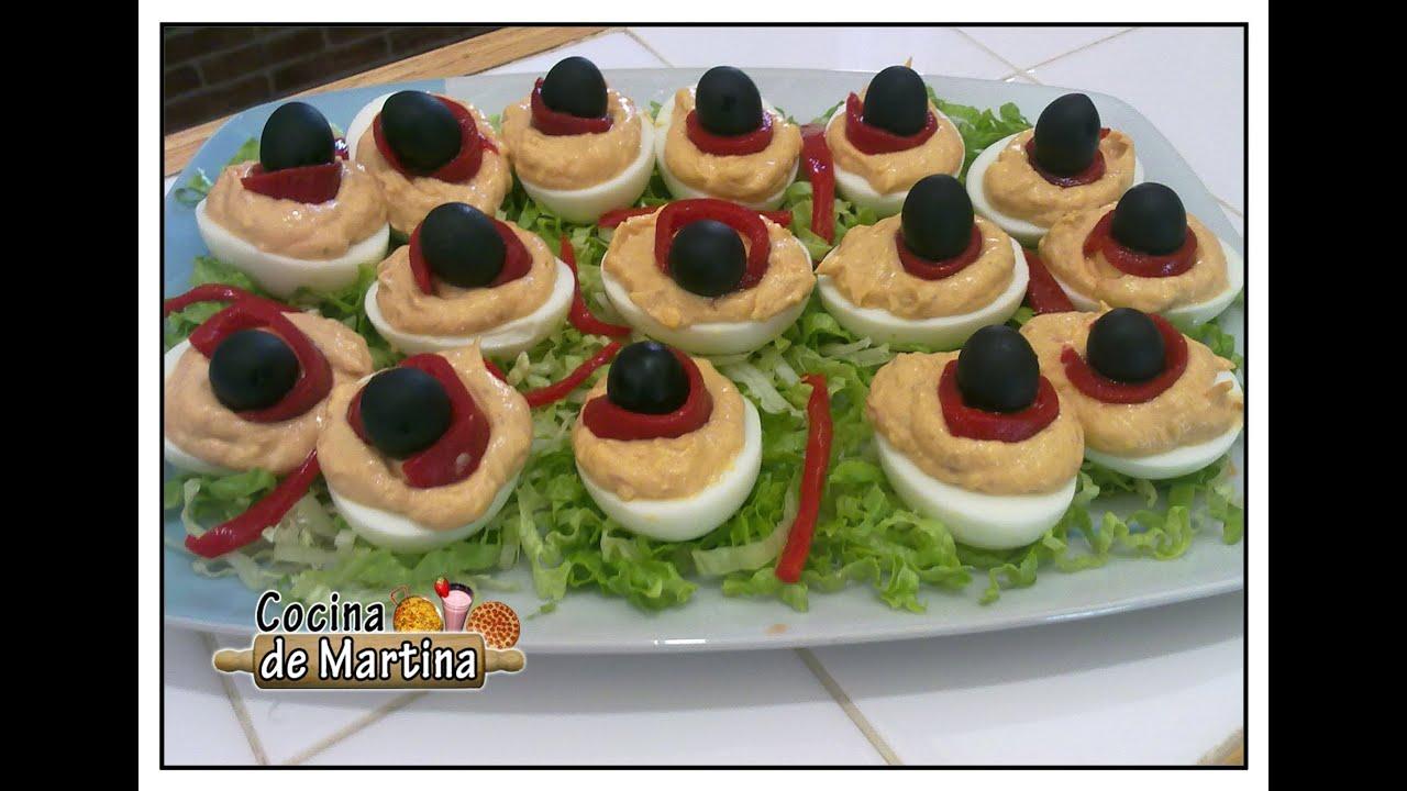Huevos rellenos recetas para navidad cocina de martina for Cocina de martina