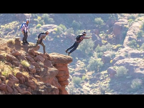BASE Jumping the Fisher Towers in Moab