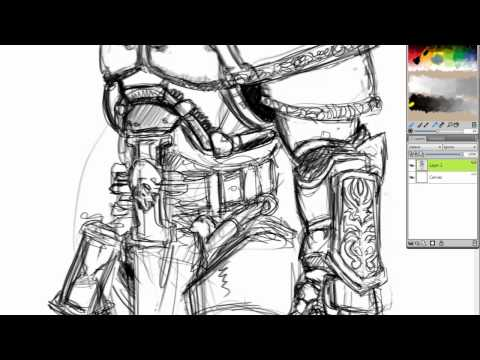 The Lord Inquisitor - Sketching Torquemada 2012 - [HD]