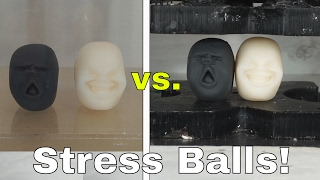 I Put Japanese Anti-Stress Balls in a Vacuum Chamber and Hydraulic Press