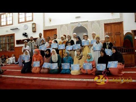 الفائزون في مسابقة التجويد بمسجد ادزكري